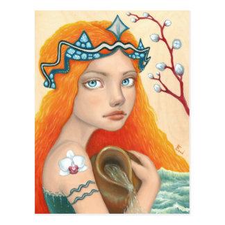 Aquarius Girl Postcard
