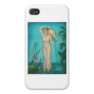 Aquarius Goddess with Lilly by the Water iPhone 4/4S Covers