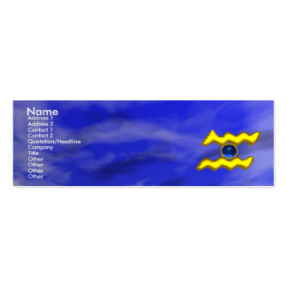 AQUARIUS GOLD JEWEL,blue sapphire, yellow Double-Sided Mini Business Cards (Pack Of 20)
