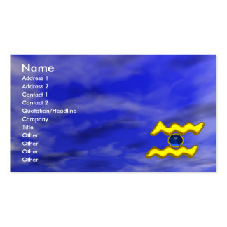 AQUARIUS GOLD JEWEL,blue sapphire, yellow Double-Sided Standard Business Cards (Pack Of 100)