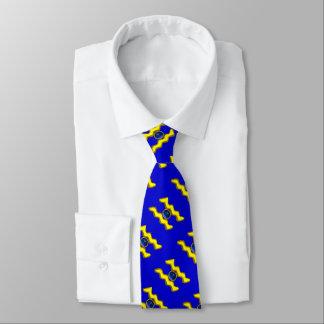 AQUARIUS /GOLD ZODIAC BIRTHDAY JEWEL, Blue Neck Tie