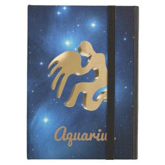 Aquarius golden sign cover for iPad air