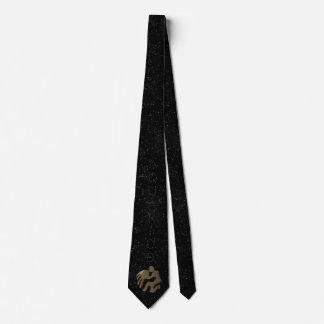 Aquarius golden sign neck tie