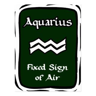 Aquarius Green Graphic Postcard
