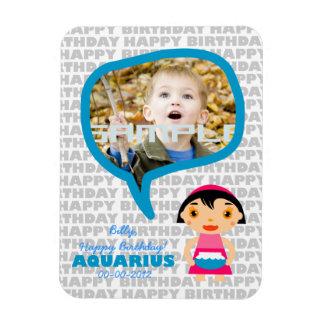 Aquarius Happy Birthday Keepsake for kids Magnet