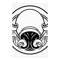 Aquarius Horoscope Birth Sign Stationery