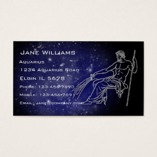 Aquarius Horoscope Business Card