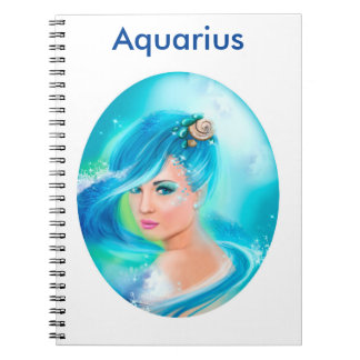 Aquarius Horoscope Zodiac Fantasy Notebook