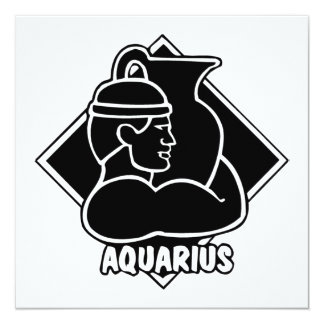 Aquarius Horoscope Zodiac Sign Card