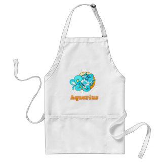 Aquarius illustration adult apron