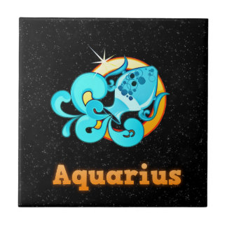Aquarius illustration tile
