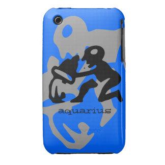 Aquarius in black iPhone 3 cover