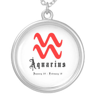 Aquarius, January 20 - February 18 Silver Plated Necklace