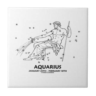 Aquarius (January 20th - February 18th) Ceramic Tile