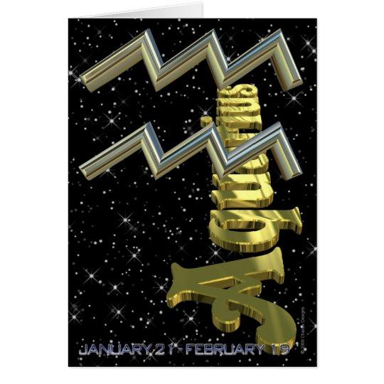 Aquarius - January 21 to February 19 Card