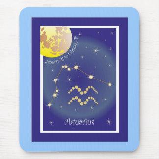 Aquarius January 21 to February de 18 Mauspad Tapetes De Ratones