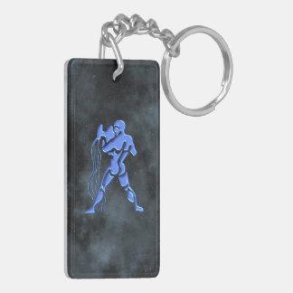 Aquarius Rectangular Acrylic Keychains