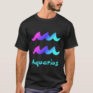 Aquarius Magenta Blue Aqua Zodiac Sign T-Shirt