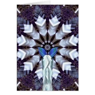 Aquarius Mandala Birthday Card