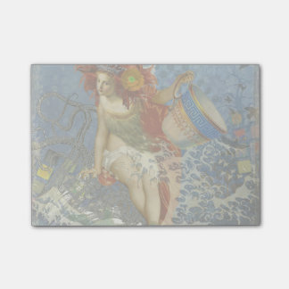 Aquarius Mermaid Woman Gothic Whimsical Collage Post-it Notes