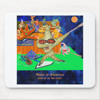Aquarius Moon Mouse Pad