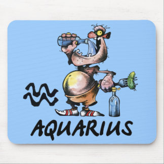 Aquarius Mouse Pad Cartoon Zodiac