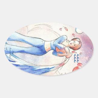 Aquarius Oval Sticker