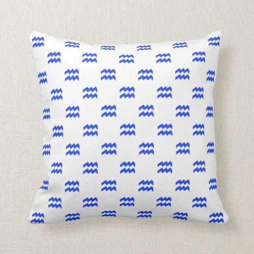 Aquarius Pattern Blue Pillows
