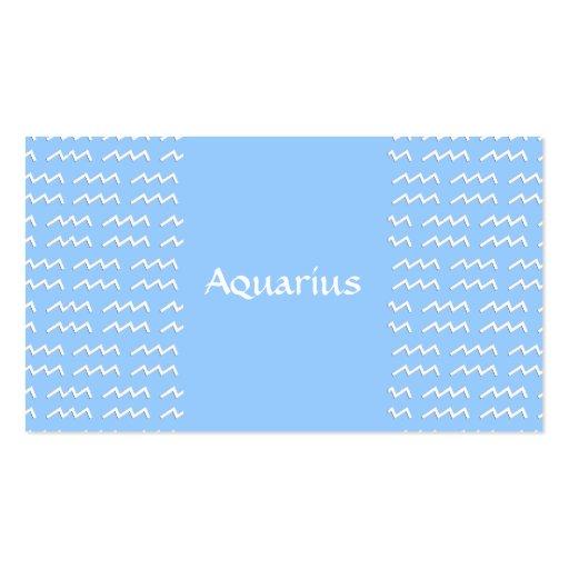Aquarius Pattern Business Card