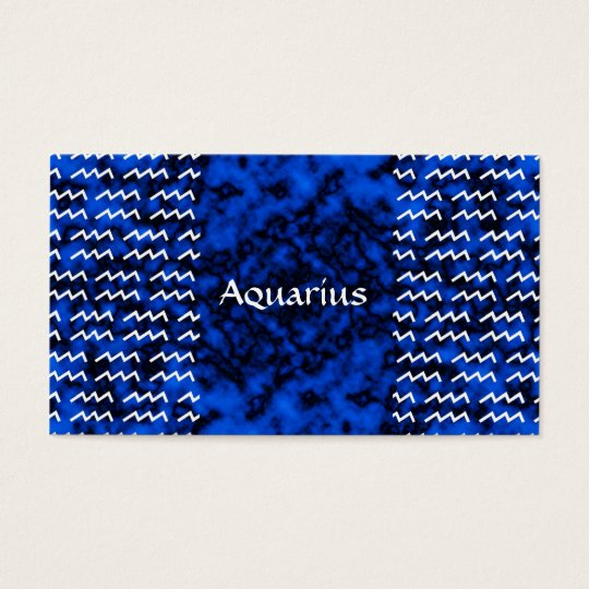 Aquarius Pattern Business Card