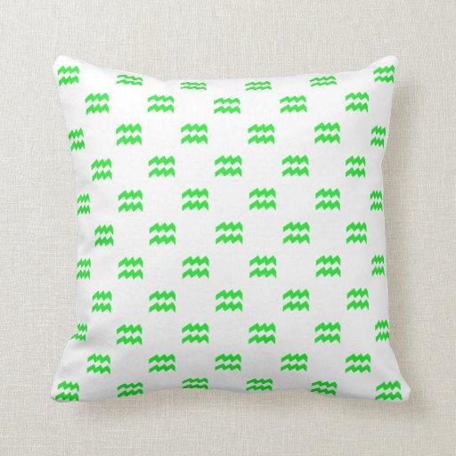 Aquarius Pattern Green Pillows