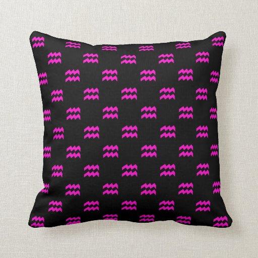 Aquarius Pattern Pink Throw Pillow