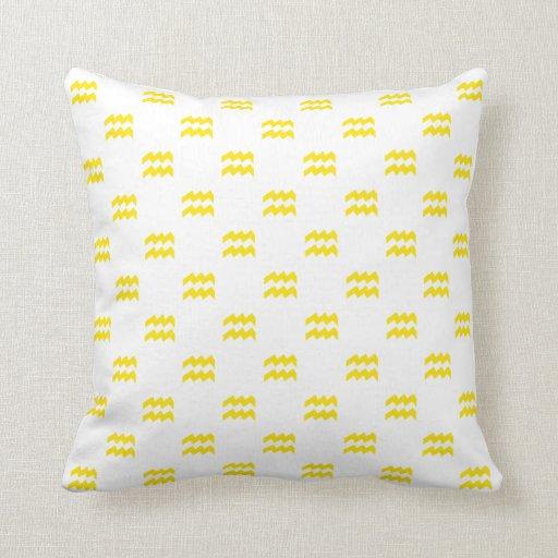 Aquarius Pattern Yellow Pillow
