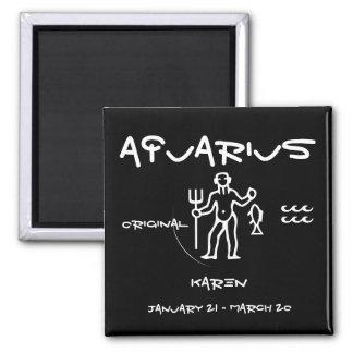 Aquarius Personalized 2 Inch Square Magnet