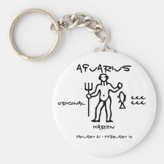 Aquarius Personalized Keychain