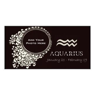 Aquarius Photo Template Customized Photo Card