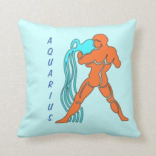 Aquarius Throw Pillows