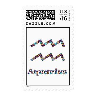 Aquarius Psychedelic Stamp