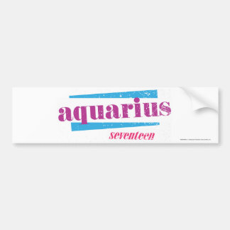 Aquarius Purple Bumper Sticker