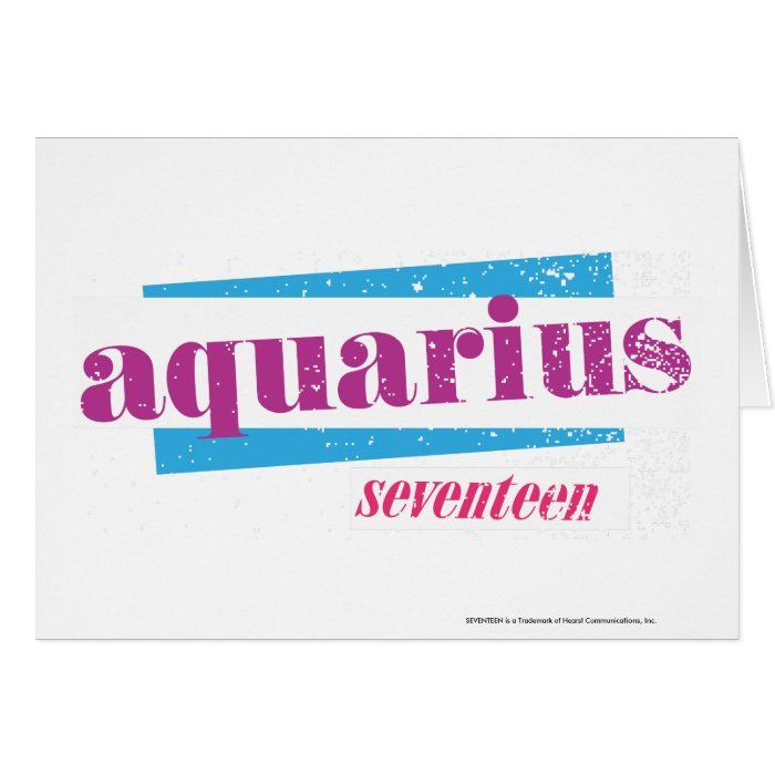 Aquarius Purple Card