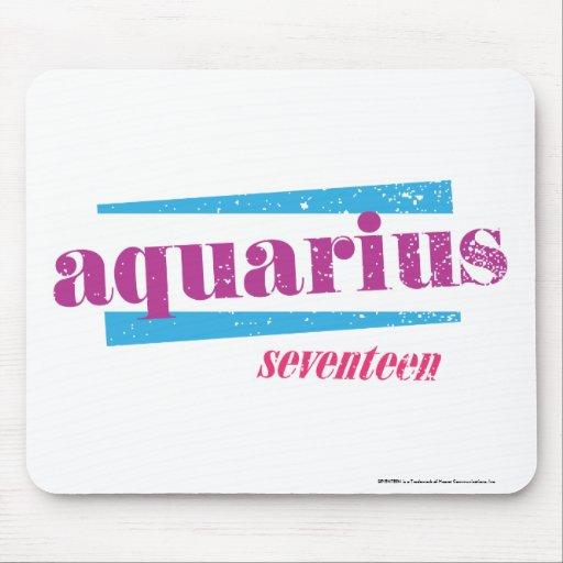 Aquarius Purple Mouse Pad