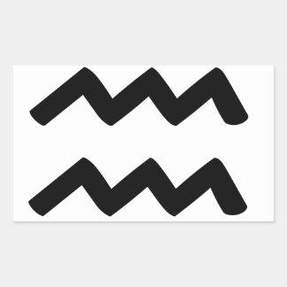 Aquarius Rectangular Sticker