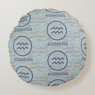Aquarius Round Pillow