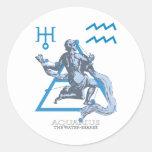 Aquarius Round Stickers