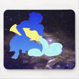 Aquarius Silhouette Mousepad