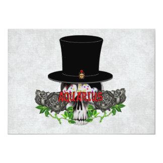 Aquarius Skull Card