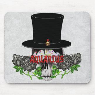 Aquarius Skull Mouse Pad