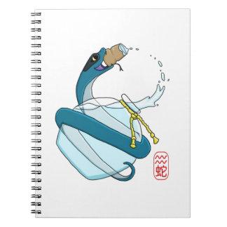 Aquarius/Snake Spiral Notebook