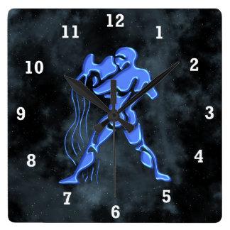 Aquarius Square Wall Clock