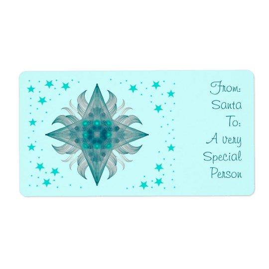 Aquarius Star Gift Label
